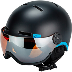 Salomon Grom Visor Helmet Barn black